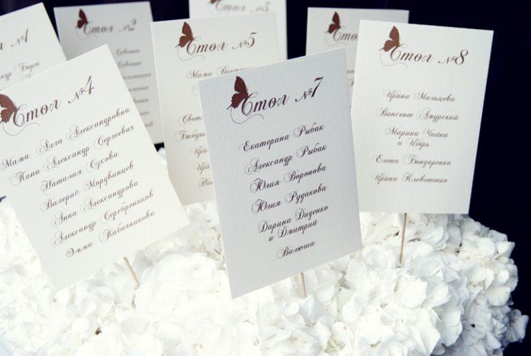 Рассадка за столом на свадьбе своими руками