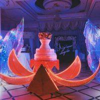 Свадебный торт неоновое шоу на заказ