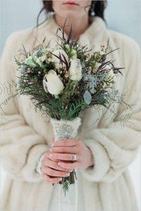 Зимний свадебный букет в Краснодаре на заказ