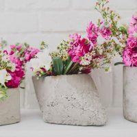 бетонные детали в оформлении свадьбы